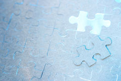 Blaues Puzzlespiel Stockfotografie