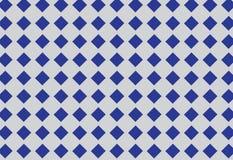 Blaues Quadrat- oder Diamantformmuster Lizenzfreies Stockbild