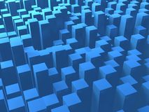 Blaues Quadrat ragt Hintergrund hoch Lizenzfreie Stockfotos