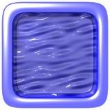Blaues quadratisches Feld Lizenzfreie Stockbilder