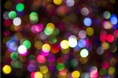 Blaues, rosa, gelbes unscharfes festliches bokeh Lizenzfreies Stockbild