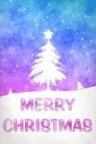Blaues rosafarbenes Weihnachten Stockbild