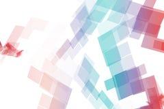 Blaues Rot-Daten-Technologie-Blöcke Lizenzfreie Stockfotos