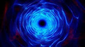 Blaues Rot-organischer gewellter Tunnel-Zusammenfassungs-Animations-Hintergrund lizenzfreie abbildung