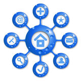 Blaues rundes Diagramm des Vektors Lizenzfreies Stockfoto