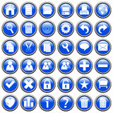 Blaues rundes Web knöpft [1] Stockbilder