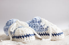 Blaues Schätzchen-Beuten lizenzfreie stockfotos