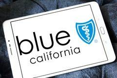 Blaues Schild von Kalifornien-Logo Lizenzfreie Stockbilder