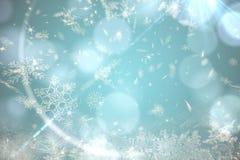 Blaues Schneeflocken-Musterdesign Lizenzfreie Stockfotografie