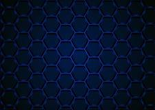 Blaues sechseckiges 3D Mesh Background Stock Abbildung