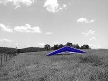 Blaues Segelflugzeug stockbilder
