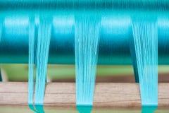 Blaues Seidespinnen Stockbilder