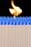 Blaues Sicherheitsmatch Stockbilder