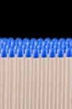 Blaues Sicherheitsmatch Stockfotos