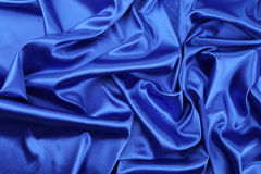 Blaues silk Drapierung Stockbild