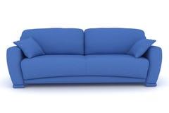 blaues Sofa mit Kissen Lizenzfreies Stockbild