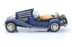 Blaues Spielzeugauto Stockfotografie