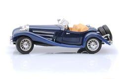 Blaues Spielzeugauto Stockfoto