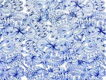 Blaues Spitzemuster Lizenzfreies Stockfoto