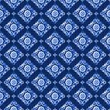 Blaues Spitzemuster des Aquarells Lizenzfreies Stockbild