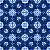 Blaues Spitzemuster des Aquarells Lizenzfreies Stockfoto