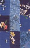 Blaues Steppdeckemuster Stockbilder
