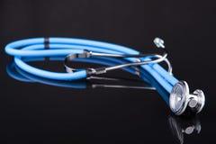 Blaues Stethoskop Stockfoto