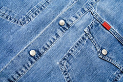 Blaues Stonewashed Denim-Hemd stockbilder