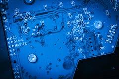 Blaues Stromkreisfestplattenbrett Lizenzfreies Stockbild