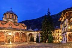 Blaues Stunde Rila-Kloster stockbild