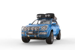 Blaues 4x4 SUV Lizenzfreie Stockfotografie