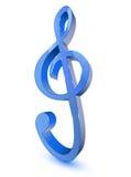Blaues Symbol des dreifachen Clef Stockfoto
