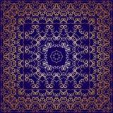 Blaues Taschentuch mit goldener Verzierung Lizenzfreie Stockfotografie