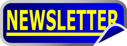 Blaues Tasten-Newsletter Stockbild