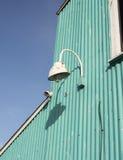 Blaues Tin Exterior Wall Lizenzfreies Stockbild