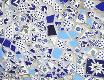 Blaues Tonwaren-Fliesen-Mosaik Stockfoto