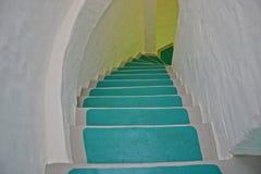 Blaues Treppenhaus Stockfoto
