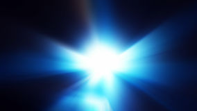 Blaues Tunnellicht als abstrakter Hintergrund Stockfotografie