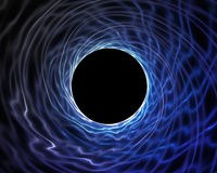 Blaues Turbulenzloch Stock Abbildung