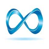 Blaues Unbegrenztheitszeichen Stockfoto