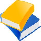 Blaues und gelbes Buch Stockfotografie