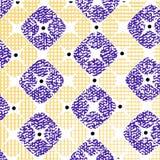 Blaues und gelbes squre Muster Stockfoto