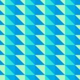 Blaues und grünes abstraktes Muster mit Dreiecken Lizenzfreie Stockbilder