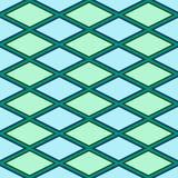 Blaues und grünes abstraktes Muster mit Raute Lizenzfreies Stockbild