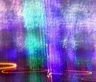 Blaues und grünes Licht-Malerei Stockfotos