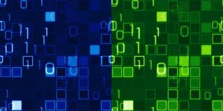 Blaues und grünes nahtloses ES Hintergründe Lizenzfreie Stockfotografie