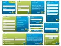 Blaues und grünes Web-Formular