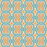 Blaues und orange Muster Lizenzfreies Stockbild