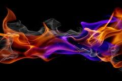 Blaues und rotes Feuer Stockfotos