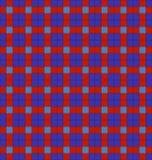Blaues und rotes Plaid Stockbilder